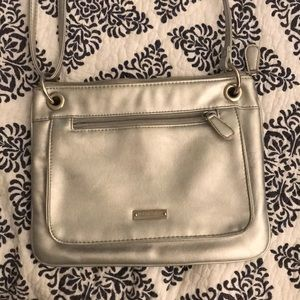 Silver crossbody purse, gently used